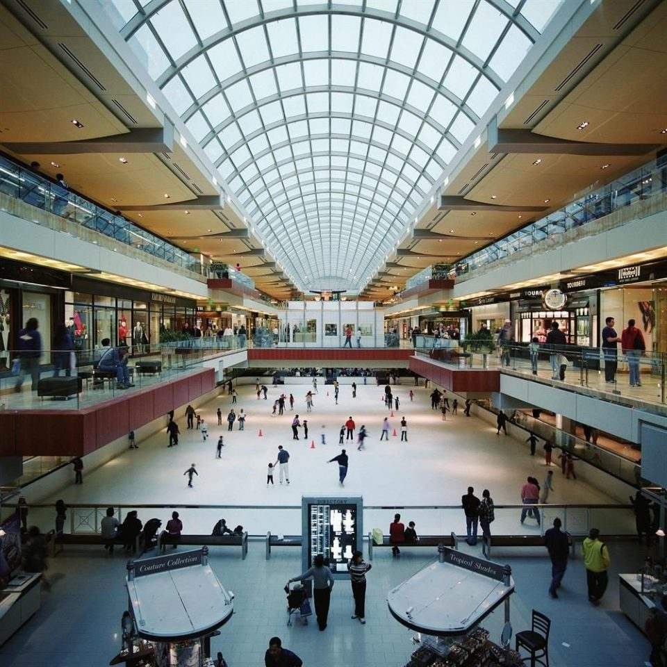 shopping mall building scene sport venue airport terminal ice rink plaza arena convention center retail
