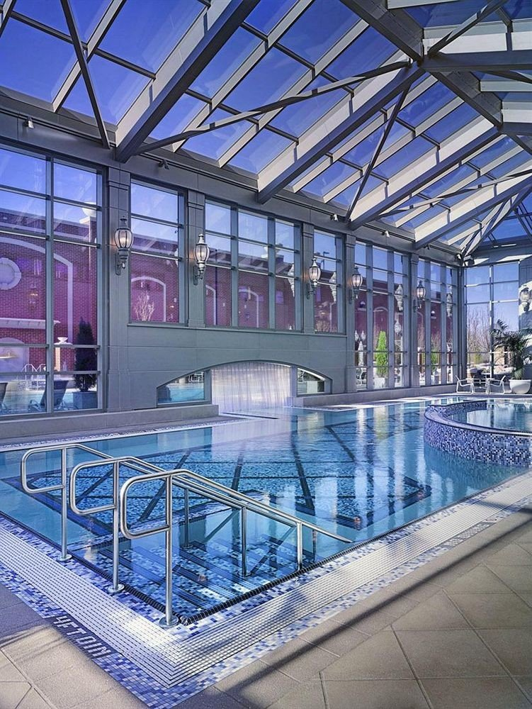 building leisure swimming pool metal leisure centre sport venue plaza airport terminal convention center walkway