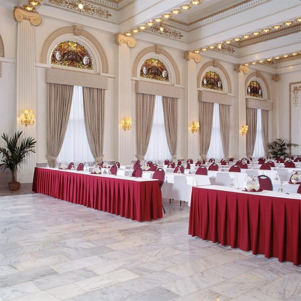 red function hall aisle white banquet ballroom ceremony conference hall auditorium palace altar
