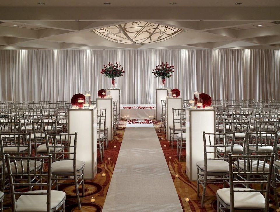chair aisle function hall auditorium wedding ceremony banquet ballroom restaurant convention center wedding reception
