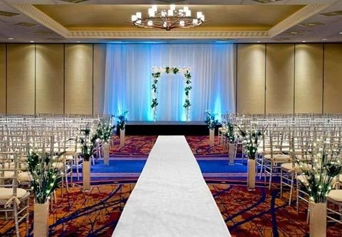 function hall ceremony banquet auditorium conference hall ballroom convention center event wedding reception aisle