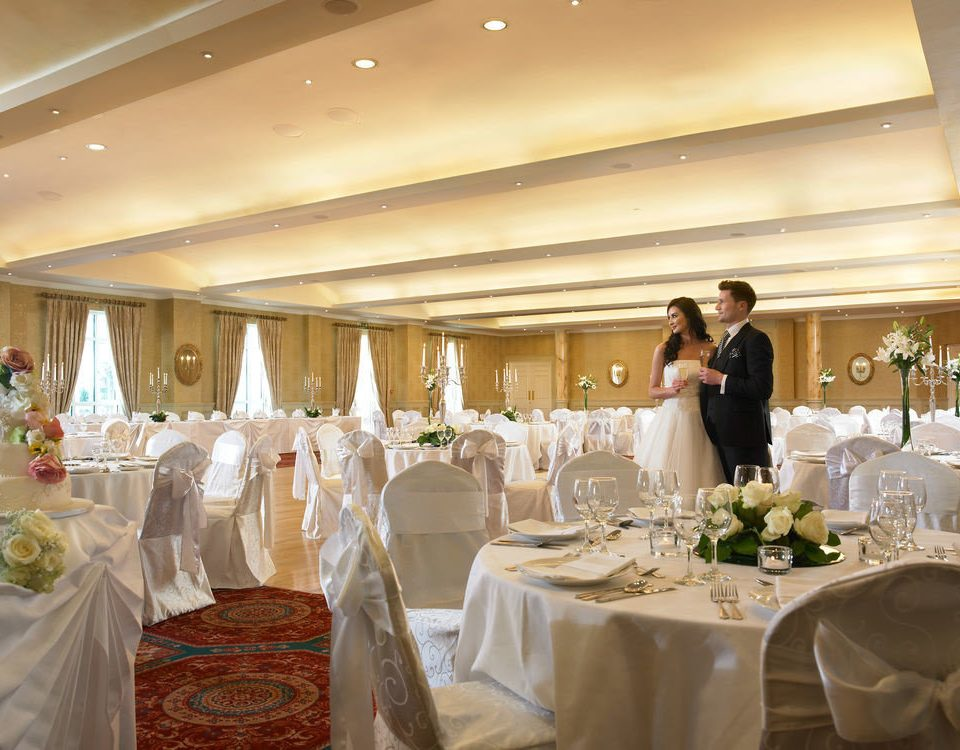 wedding function hall ceremony banquet wedding reception event ballroom aisle dining table