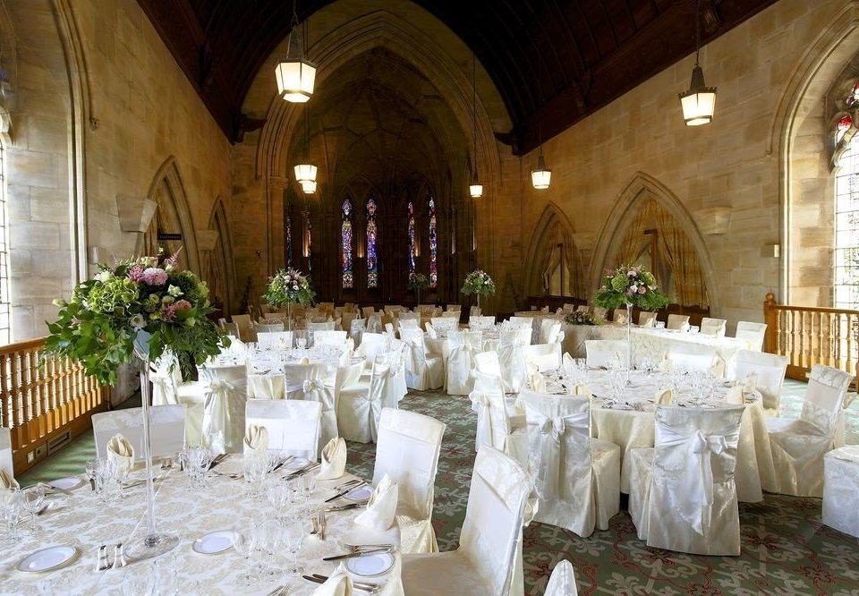 aisle function hall wedding ceremony white banquet ballroom wedding reception chapel