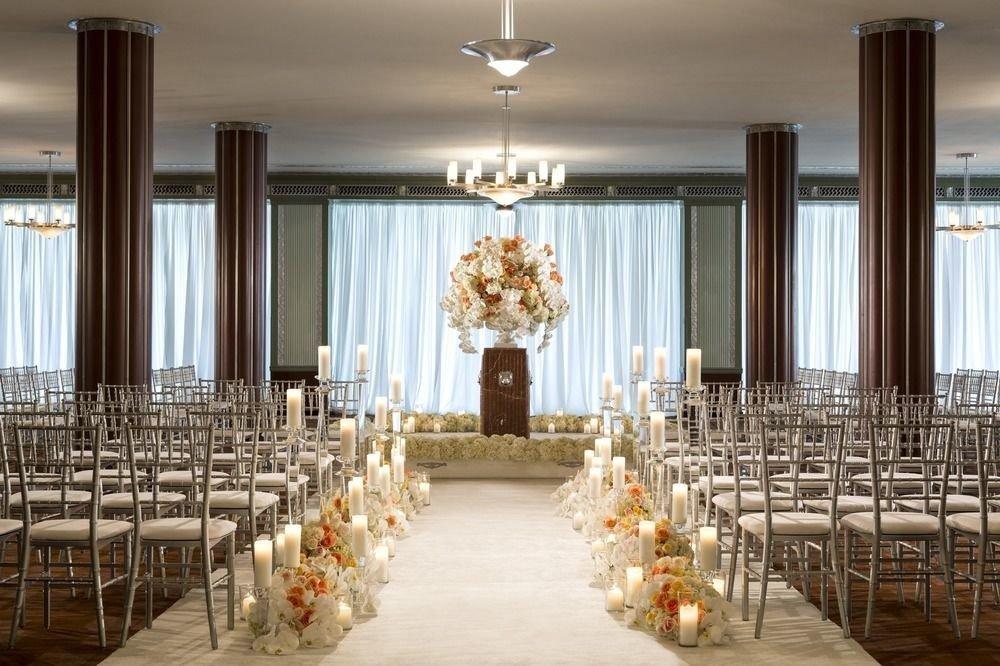 aisle function hall ceremony wedding ballroom wedding reception row banquet lined