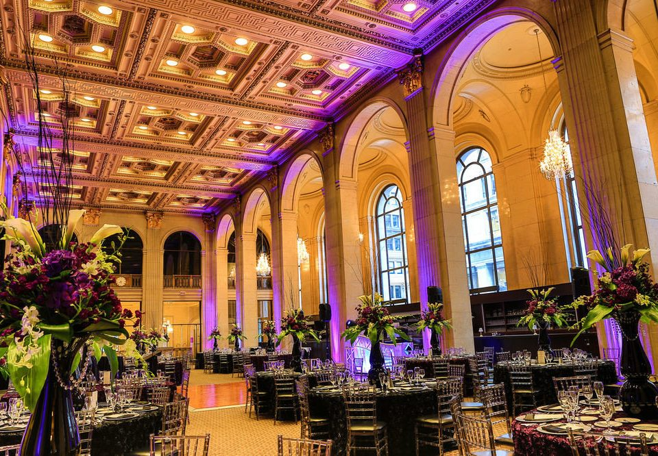building function hall ballroom palace aisle place of worship flower