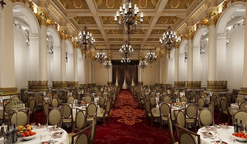 function hall ceremony ballroom aisle palace set