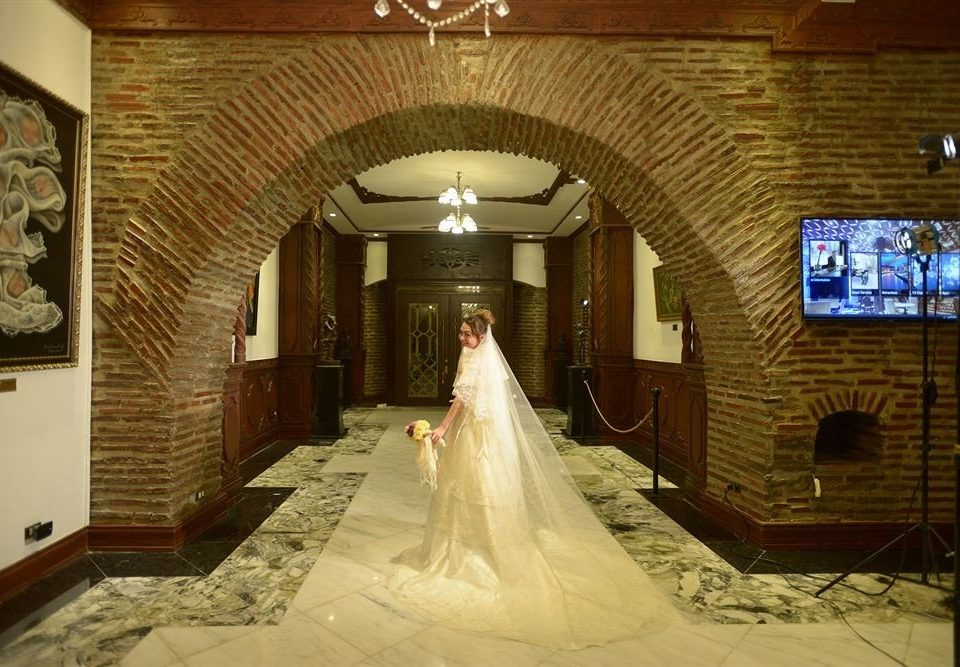 wedding aisle ceremony mansion function hall ballroom