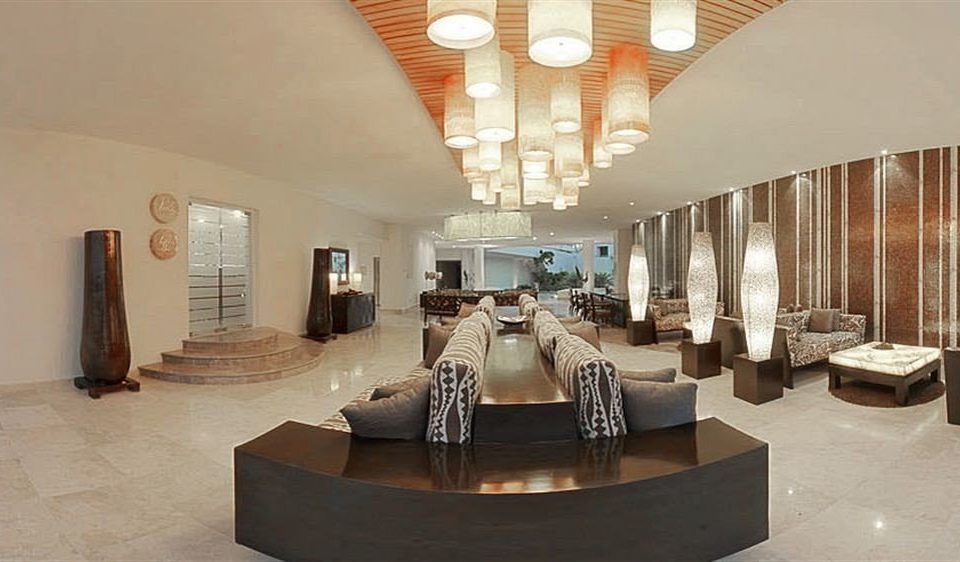 All-inclusive Beachfront Modern Waterfront property Lobby Architecture tourist attraction living room