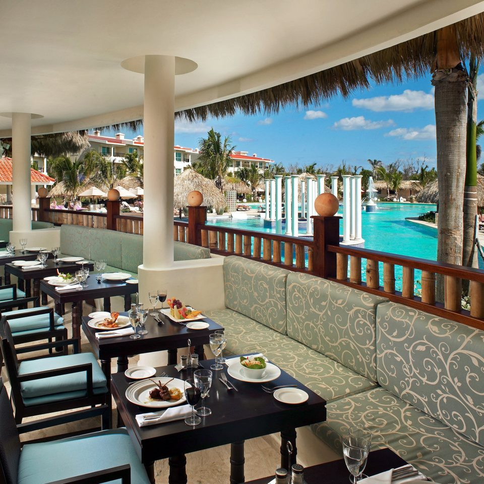 All-inclusive Balcony Dining Drink Eat Family Hotels Patio Pool Resort Terrace chair leisure property restaurant condominium