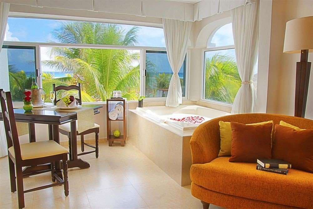 All-inclusive Bath Beachfront Modern Resort Scenic views Waterfront property living room home condominium Suite Villa cottage
