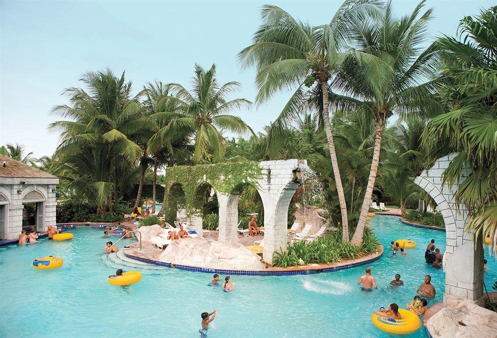 All-inclusive Beachfront Tropical tree leisure Resort plant Water park swimming pool amusement park caribbean palm arecales resort town tropics Lagoon Beach Sea