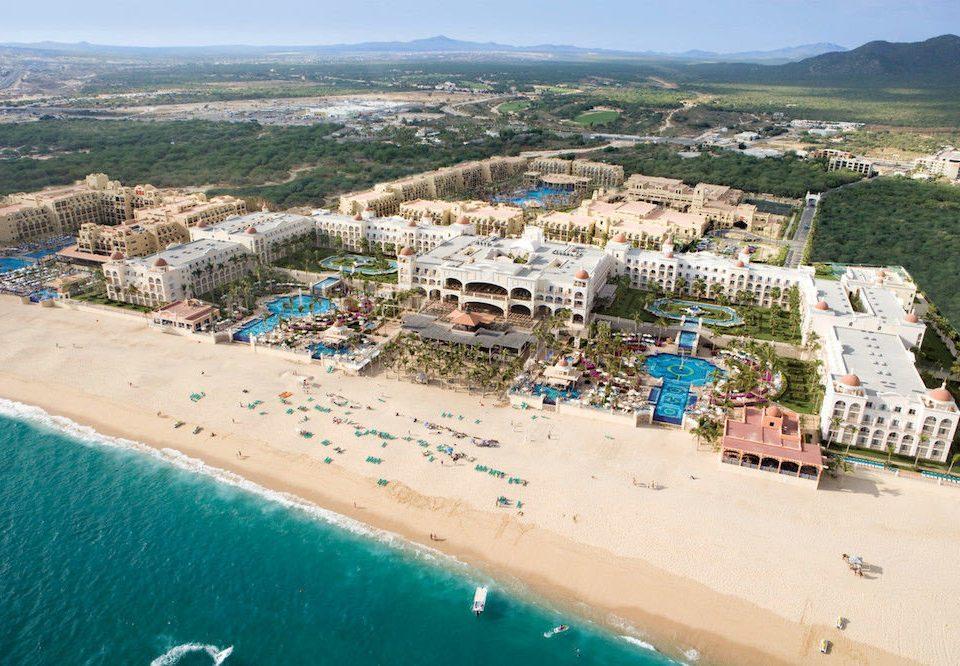 All-inclusive Beach Budget Family Resort Tropical sky Nature mountain aerial photography Sea Coast shore cape Water park