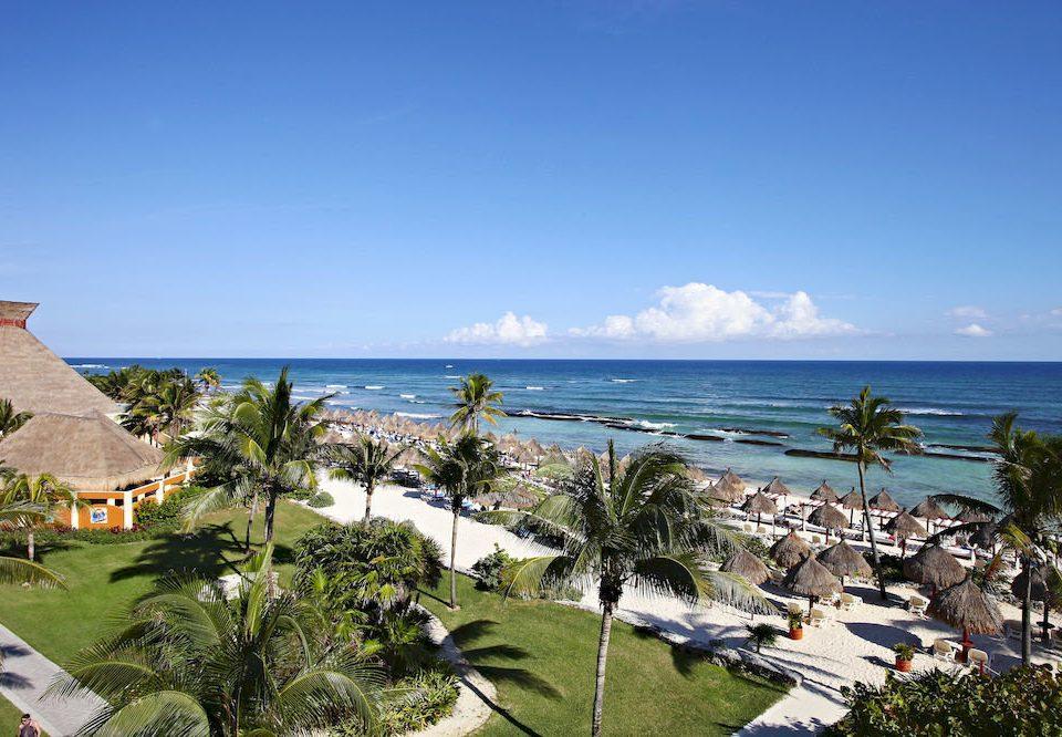 All-inclusive Beach Budget Family Resort Tropical Waterfront sky Sea shore Coast Ocean caribbean cape cove Nature tropics plant