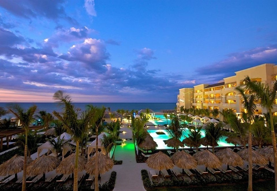 All-inclusive Beach Grounds Pool Sea Resort Ocean Coast caribbean arecales evening dusk