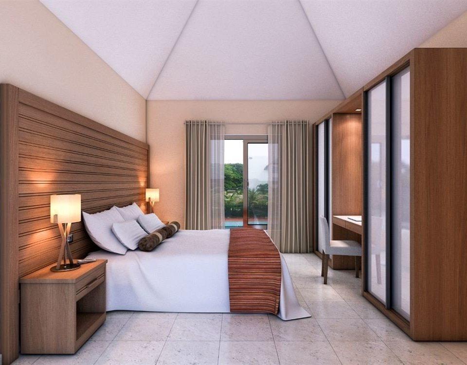 All-inclusive Beachfront Bedroom Modern Waterfront property Suite hardwood cottage living room Villa lamp