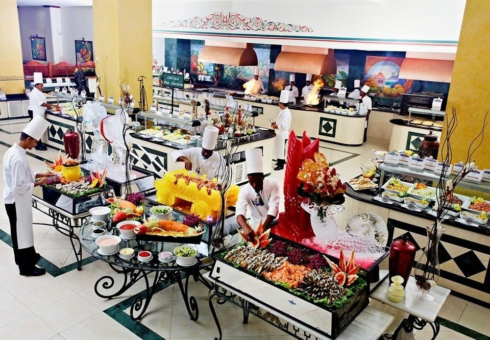 All-inclusive Beachfront Dining Eat Kitchen Resort Tropical food retail toy supermarket grocery store sense machine lego cluttered