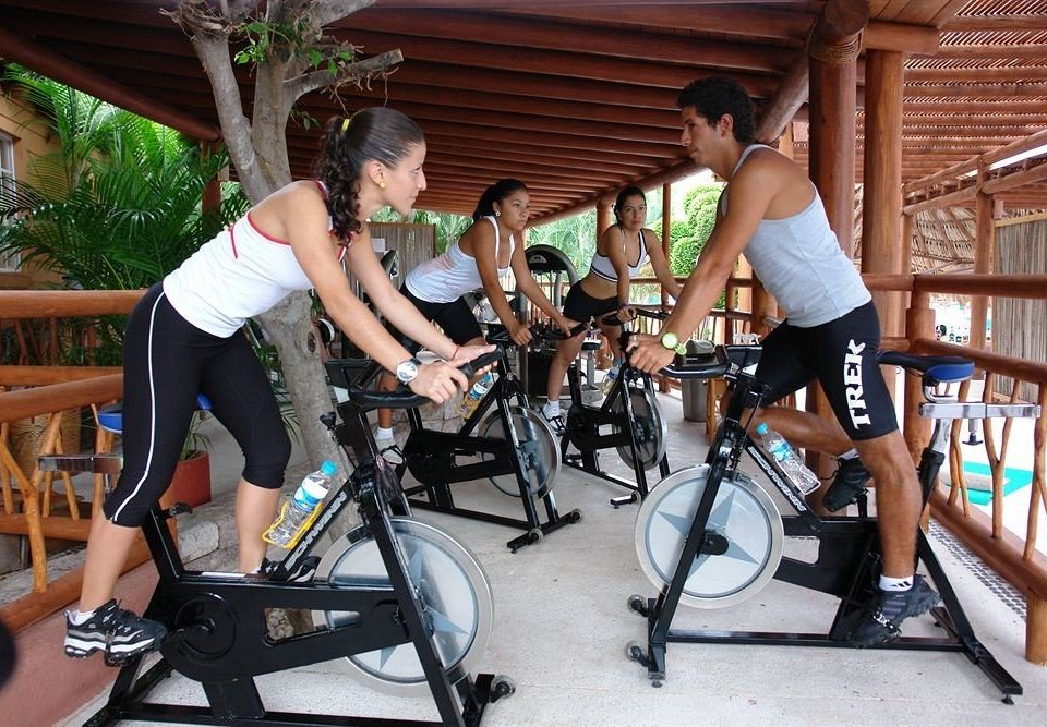 All-inclusive Beachfront Fitness Modern Resort Waterfront human action leisure indoor cycling cycling muscle sports endurance sports bicycle vehicle physical fitness physical exercise