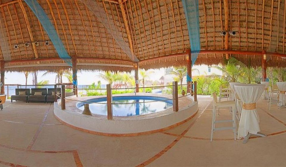 All-inclusive Beachfront Hot tub/Jacuzzi Modern Resort Waterfront leisure property swimming pool hacienda