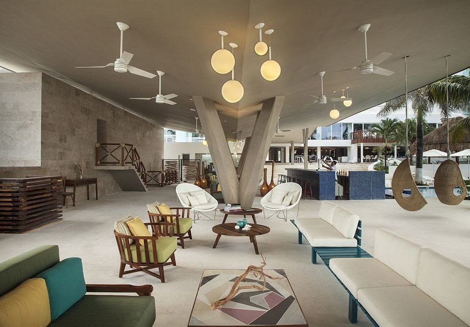 All-inclusive Beachfront Lobby Lounge Modern Waterfront property chair living room Resort condominium restaurant lighting mansion Villa