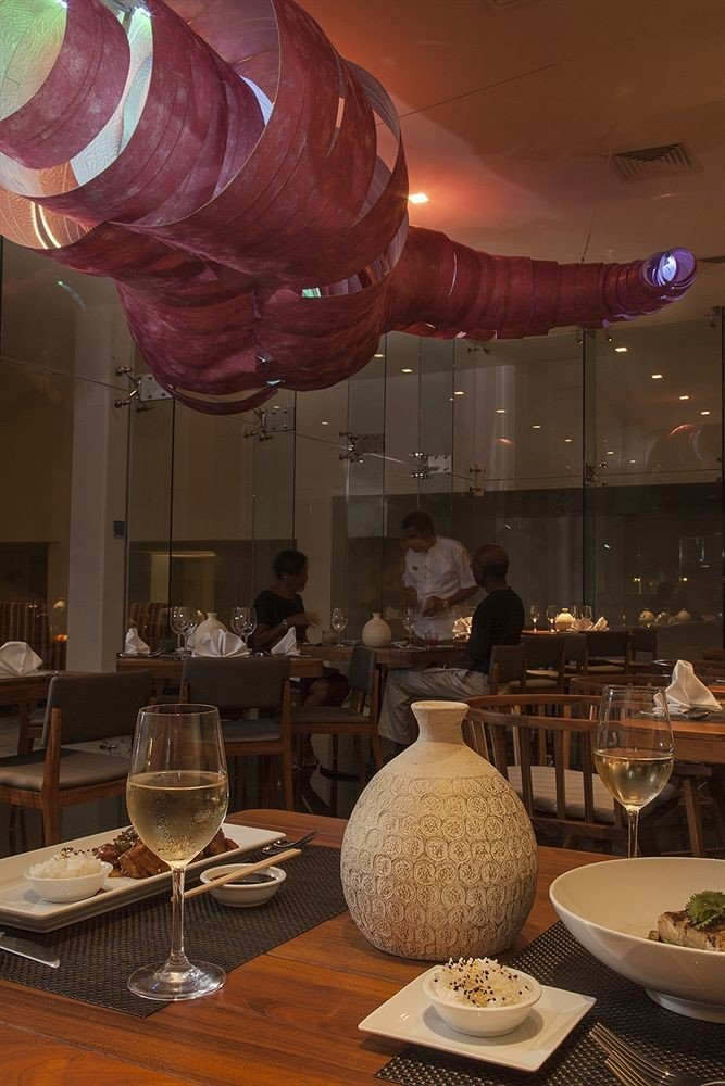 All-inclusive Beachfront Modern Waterfront restaurant lighting function hall centrepiece Lobby
