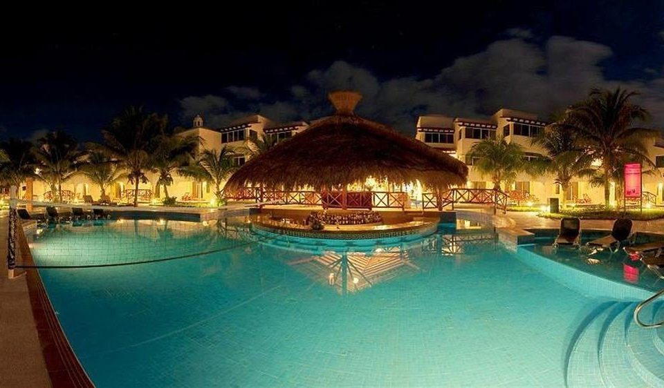 All-inclusive Beachfront Modern Pool Resort Waterfront water swimming pool resort town amusement park night