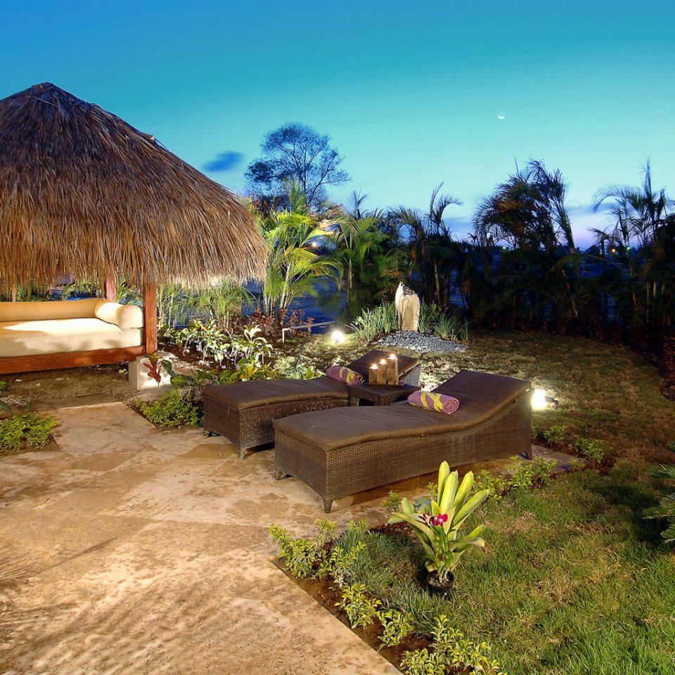 All-inclusive Boutique Family Luxury Resort Romantic tree sky grass property Nature hut Villa backyard cottage Jungle palm plant