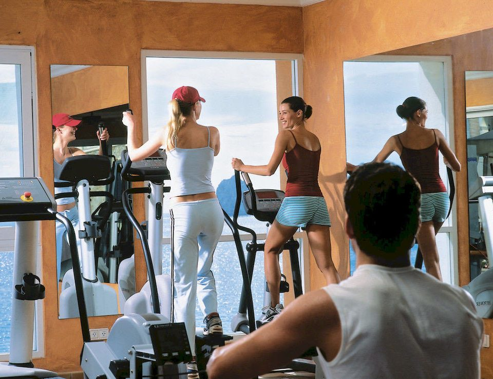 All-inclusive Budget Family Fitness Resort Tropical structure sport venue gym muscle Sport physical fitness