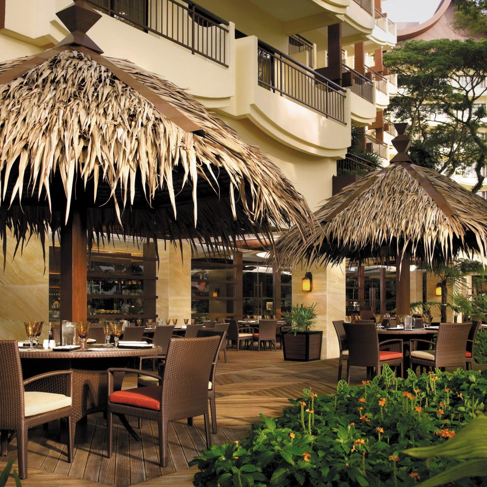 All-inclusive Dining Drink Eat Island Luxury Resort tree chair restaurant building roof