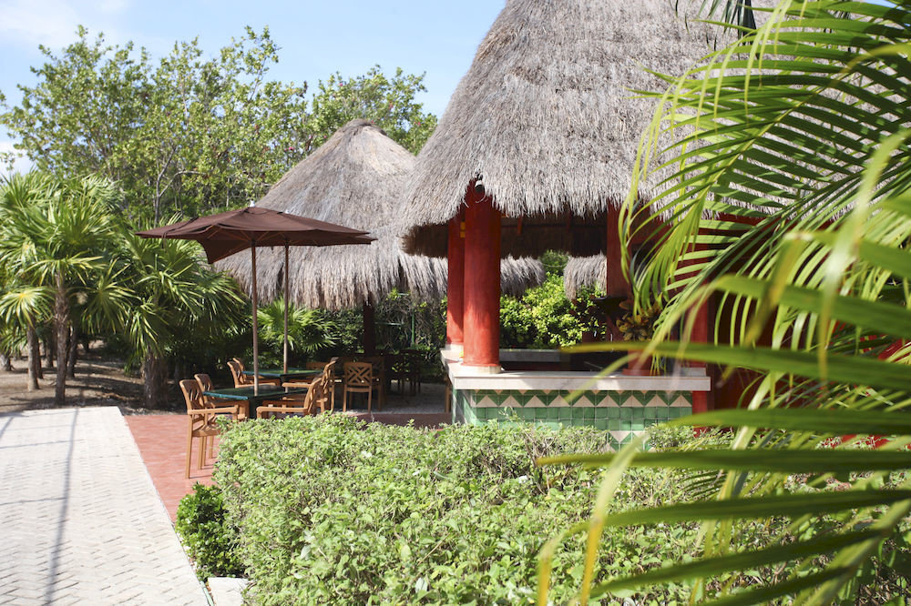All-inclusive Dining Drink Eat Family Honeymoon Resort Rustic Tropical Waterfront tree property plant arecales Garden Jungle Village hacienda Villa cottage plantation flower stone