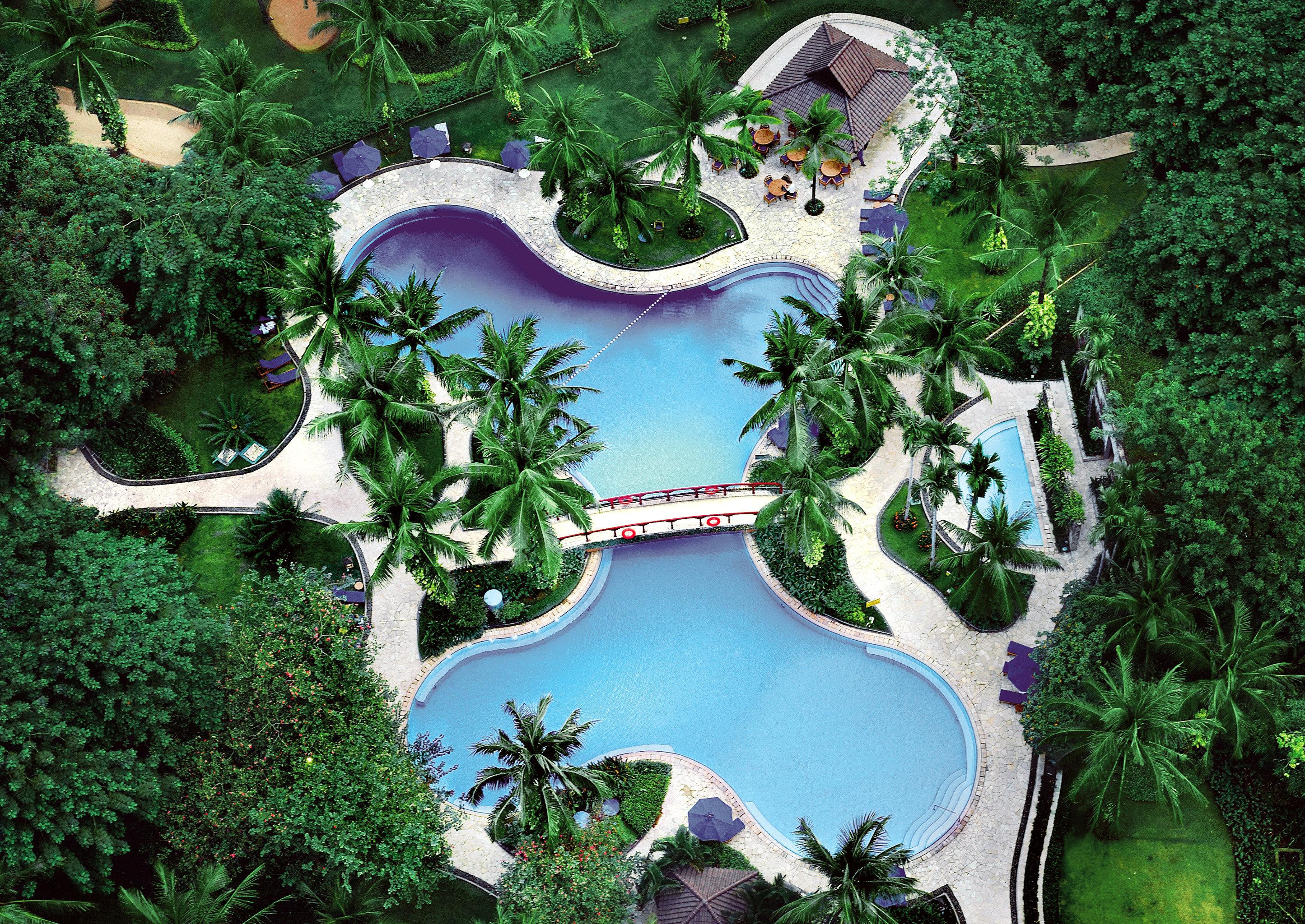All-inclusive Hot tub/Jacuzzi Luxury Pool tree text plant ecosystem botany Garden mansion Resort Jungle screenshot backyard park amusement park biome surrounded