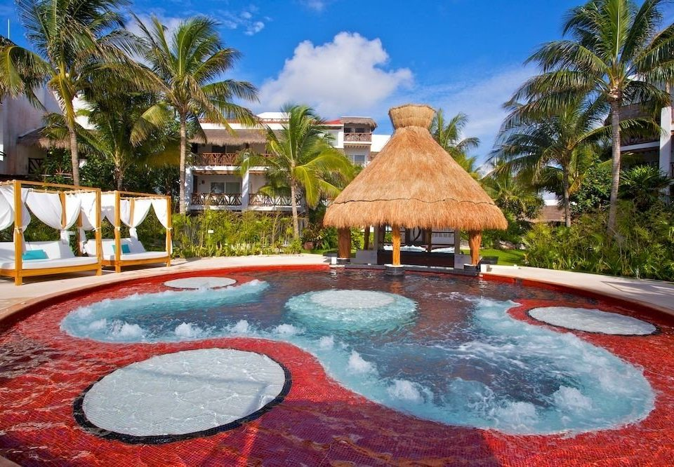 All-inclusive Hot tub/Jacuzzi Luxury Pool Resort Tropical tree swimming pool leisure backyard vessel hacienda Villa bathtub swimming