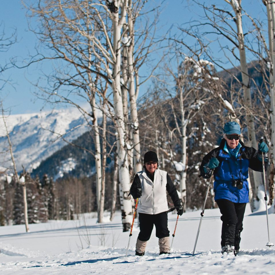 All-inclusive Lodge Outdoor Activities Outdoors Ranch Romantic snow tree skiing Winter footwear weather season nordic skiing snowshoe freezing cross cross country skiing spring winter sport Nature sports ski slope slope wooded