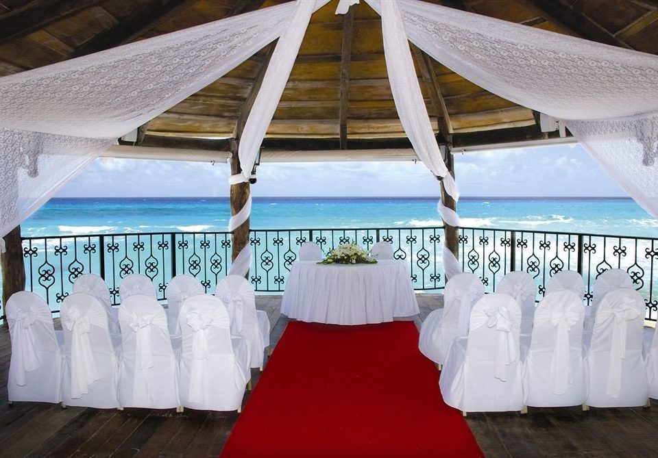 All-inclusive Modern Waterfront function hall banquet tent ceremony Party wedding aisle wedding reception