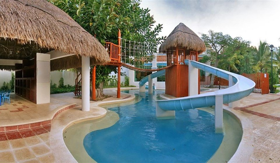 All-inclusive Modern Pool Waterfront building swimming pool leisure property Resort Villa Water park hacienda resort town backyard mansion eco hotel