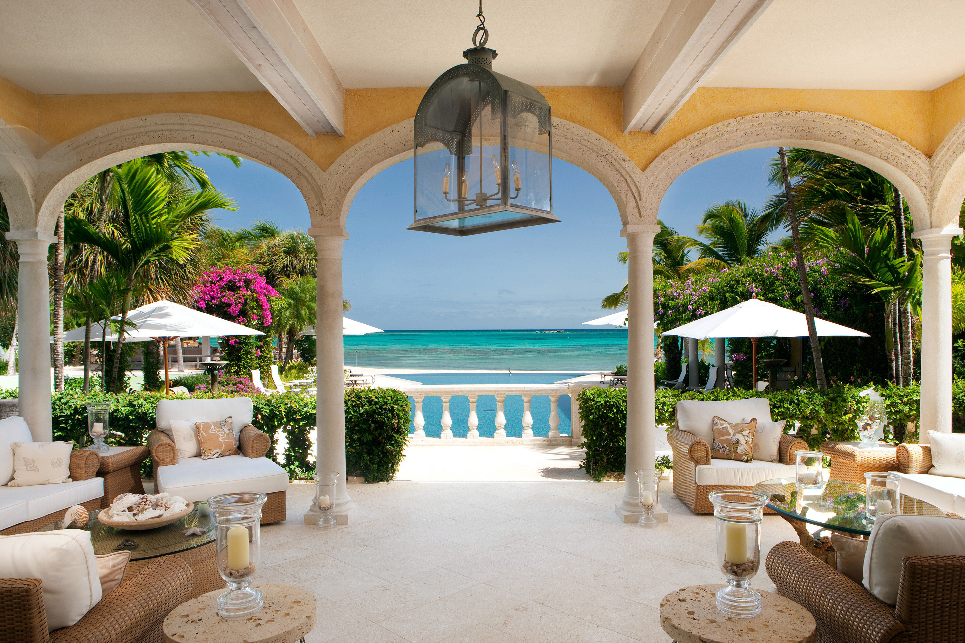 All-inclusive All-Inclusive Resorts Beach Beachfront Courtyard Hotels Island Lounge Luxury Patio Romantic Hotels Scenic views Suite Waterfront property Resort Villa mansion home hacienda palace caribbean living room restaurant colonnade