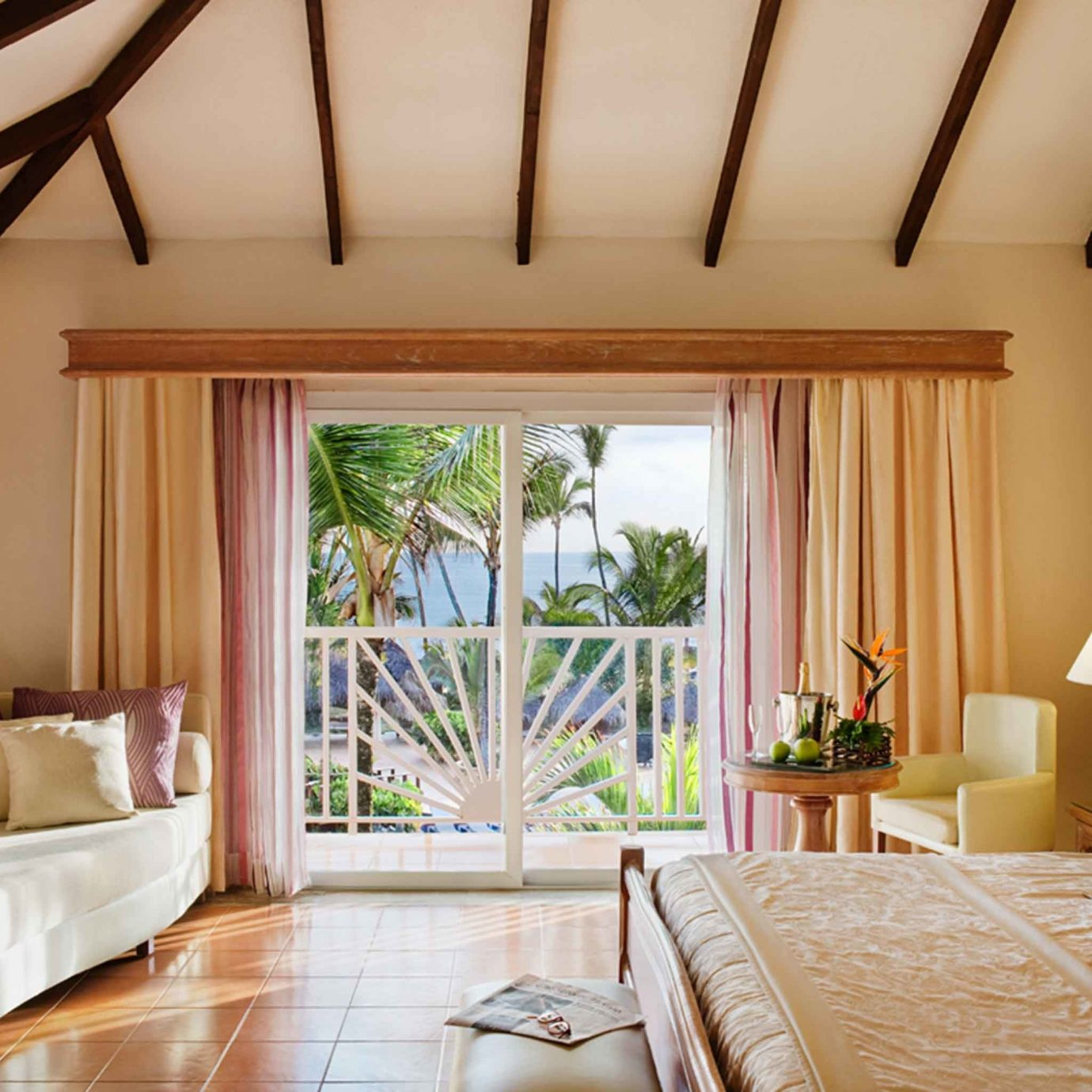 All-Inclusive Resorts Balcony Bedroom Hotels Romance Scenic views Suite sofa property living room cottage home farmhouse Villa nice colored