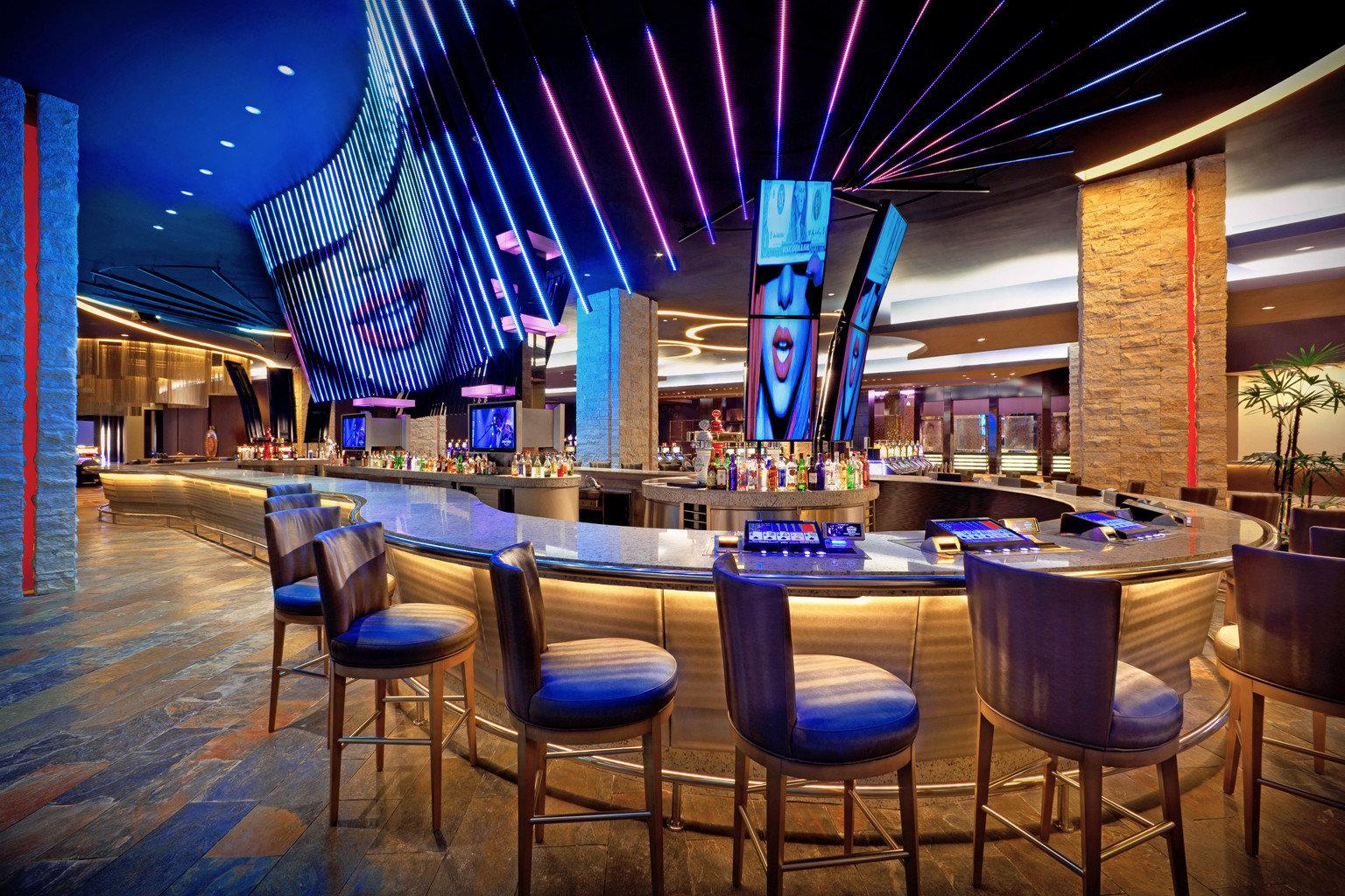 All-Inclusive Resorts Bar Dining Drink Eat Elegant Hip Hotels Modern Solo Travel chair function hall convention center blue nightclub ballroom restaurant Lobby