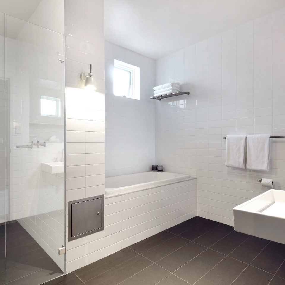 All-Inclusive Resorts Bath Boutique Hotels Hip Historic Hotels Romance bathroom mirror property sink toilet plumbing fixture flooring tile tiled