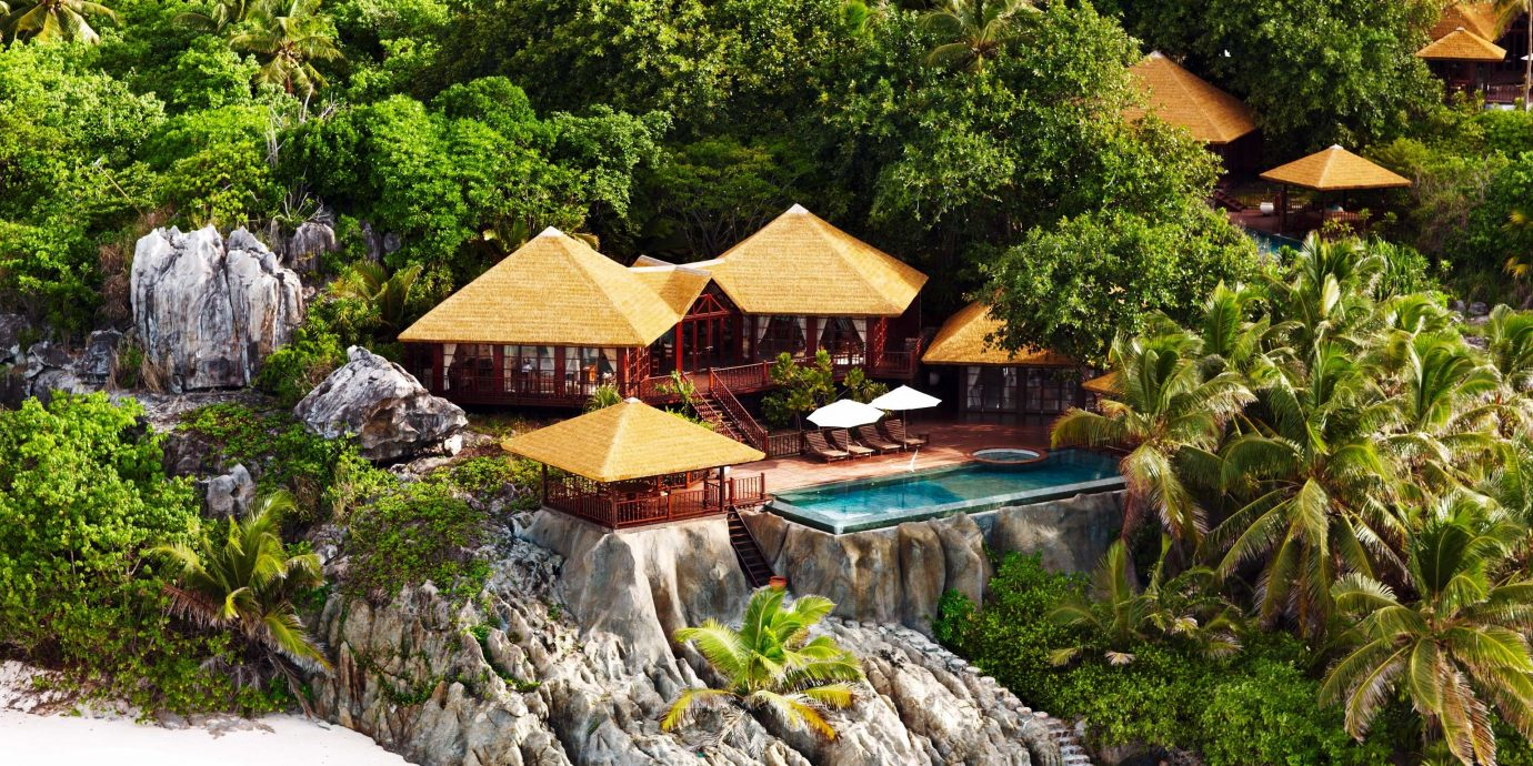 All-Inclusive Resorts Beach Beachfront Hotels Island Jungle Luxury Pool Romantic tree rock ecosystem Nature Resort Garden backyard cottage surrounded