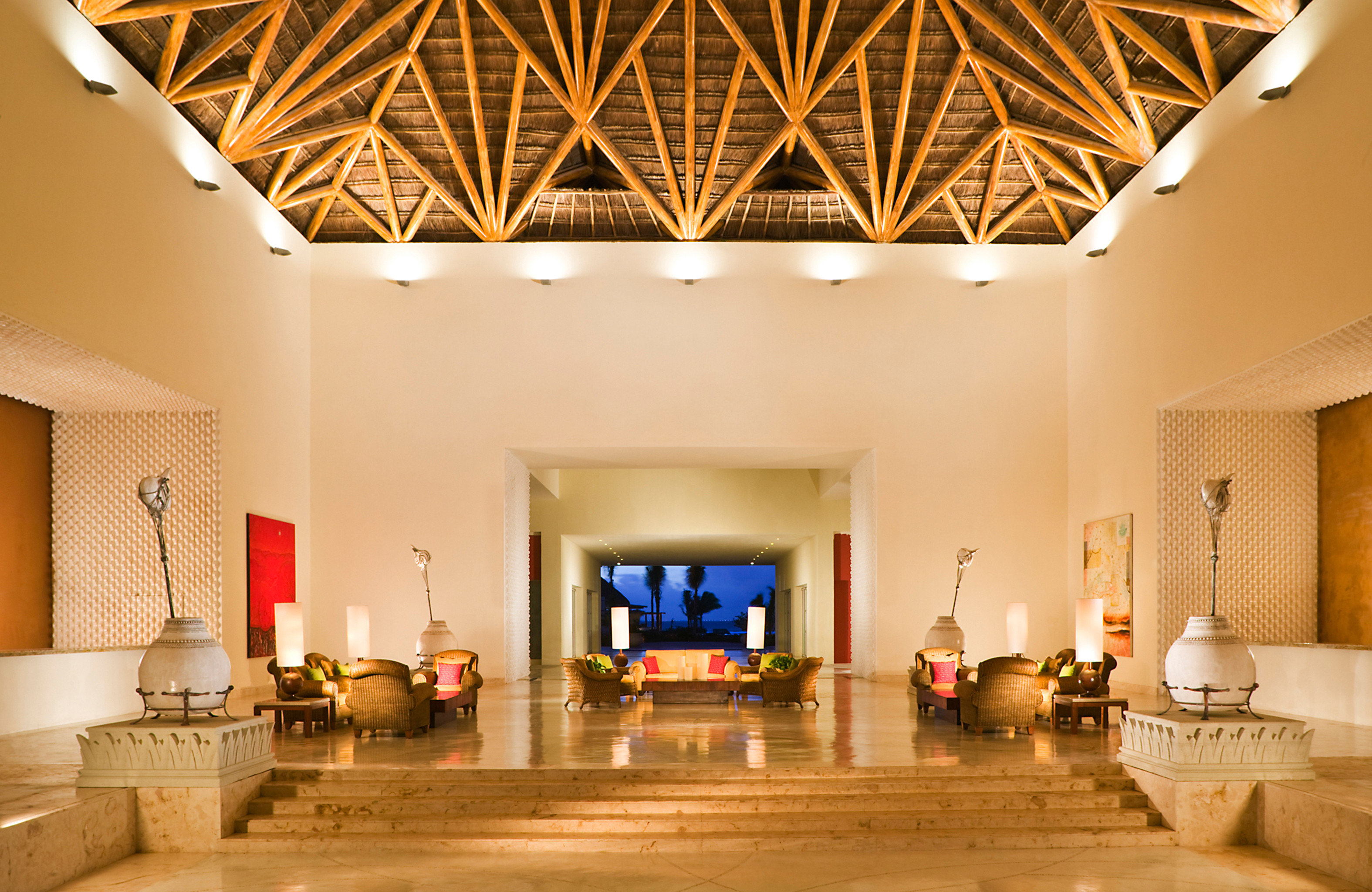 All-Inclusive Resorts Beachfront Elegant Family Travel Hotels Lounge Luxury Modern Scenic views Tropical Lobby property living room home lighting mansion Villa