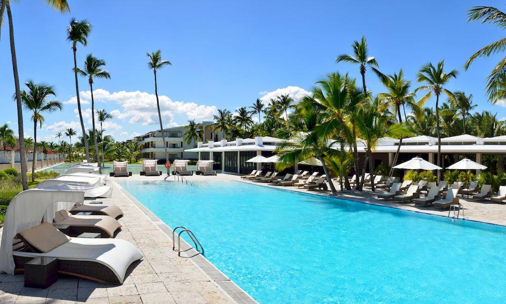 All-Inclusive Resorts Hotels Romance sky tree water Pool swimming pool Resort leisure property palm caribbean condominium Villa resort town swimming Lagoon lined