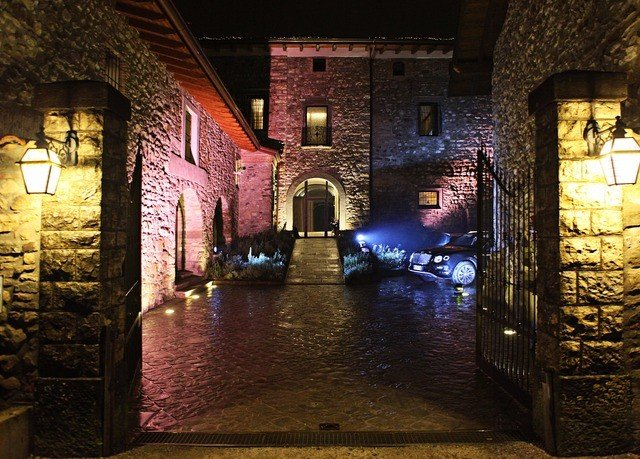 building night light house alley darkness lighting evening stone basement