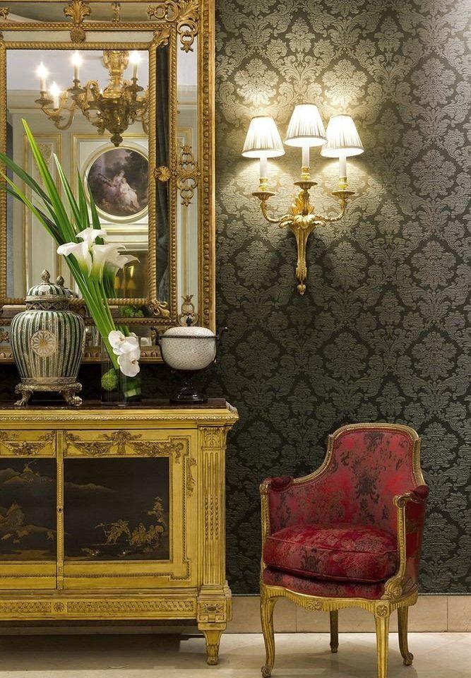 living room lighting modern art chair wallpaper flooring altar antique