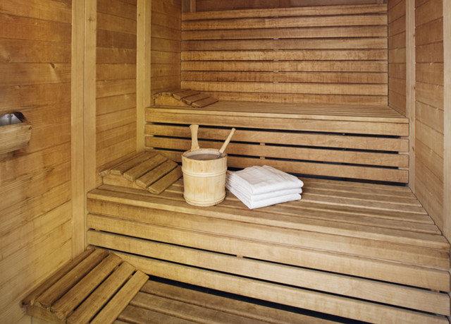 bathroom man made object wooden sauna hardwood swimming pool amenity
