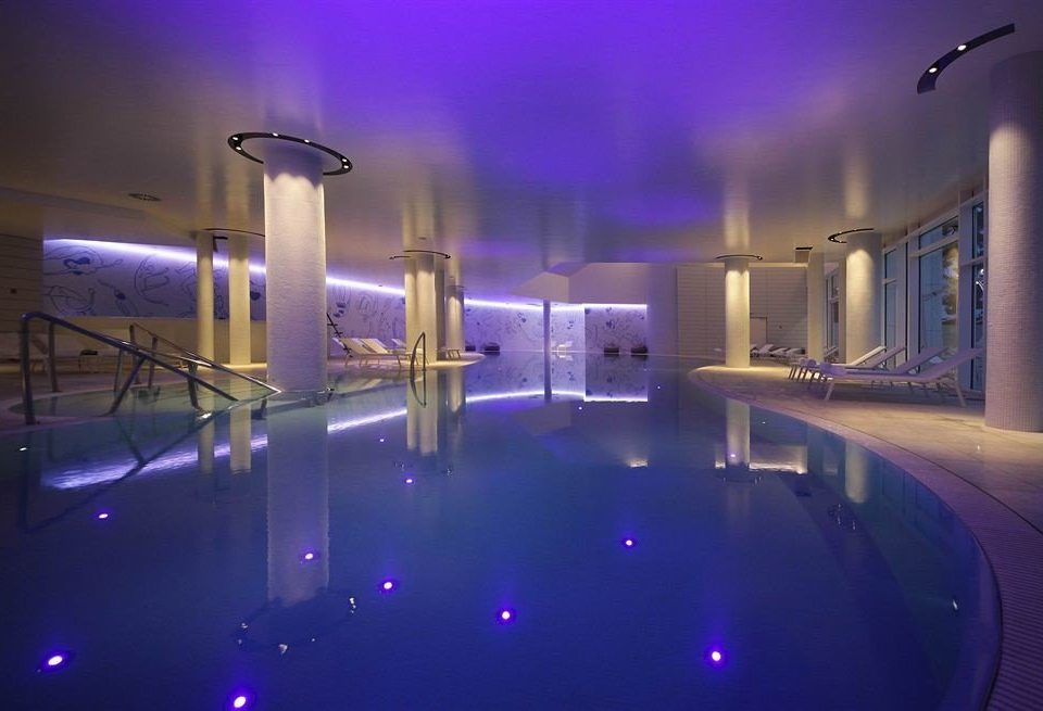 light purple lighting leisure centre swimming pool amenity