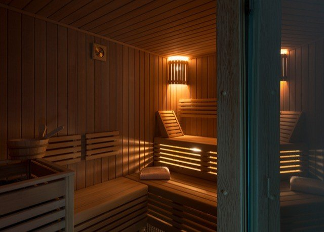 sauna lighting amenity wood stain
