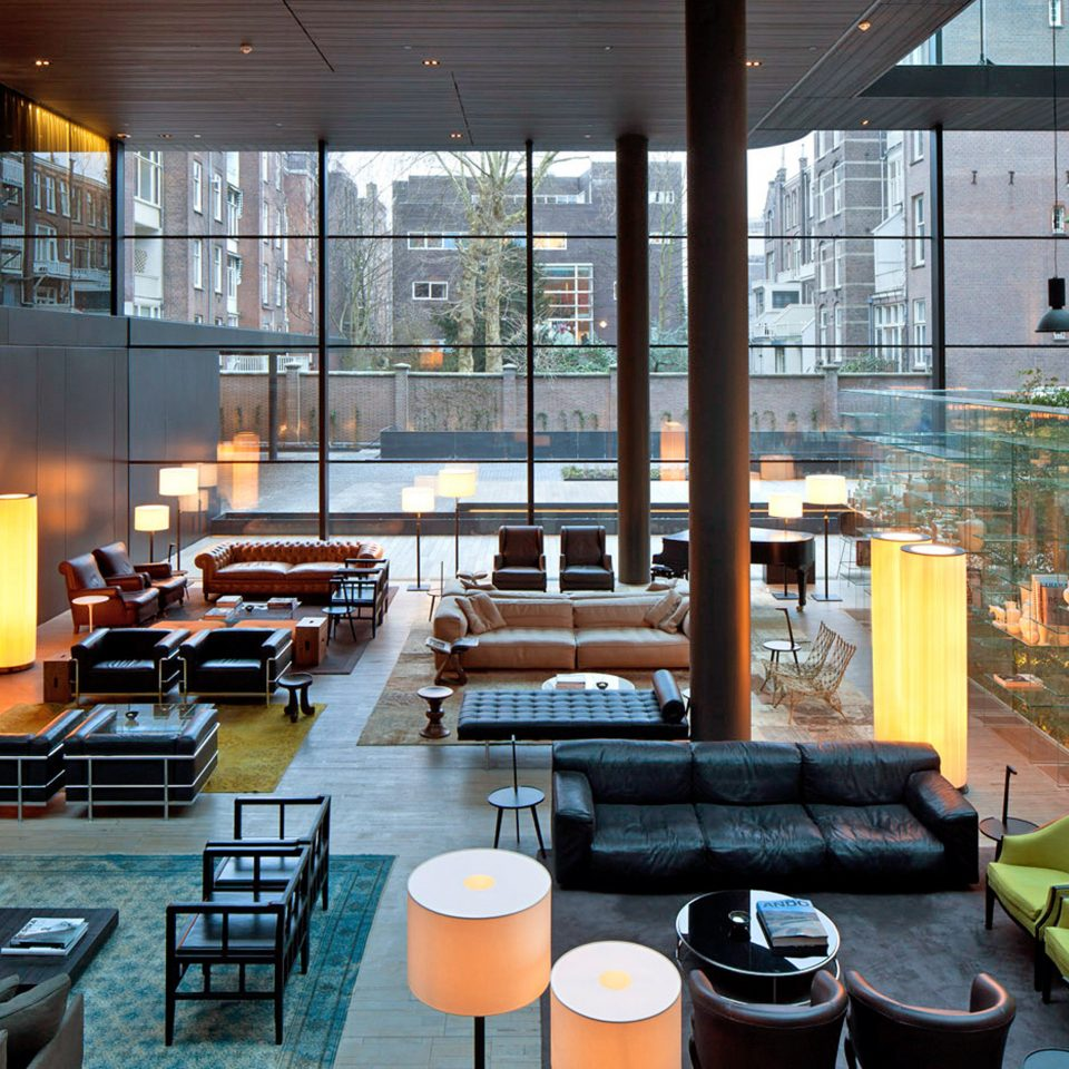 Amsterdam Boutique City Hip Hotels Lobby Modern The Netherlands chair restaurant condominium plaza