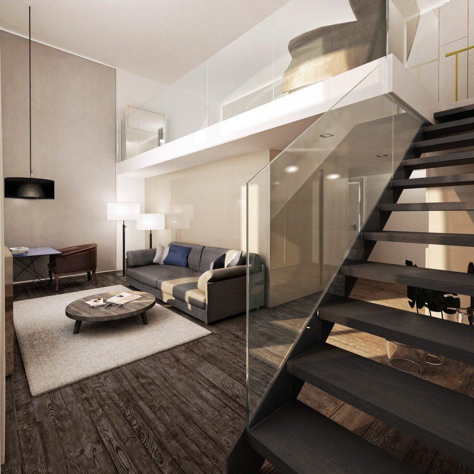 Amsterdam Boutique Hip Hotels Modern Suite The Netherlands property house home hardwood living room loft condominium