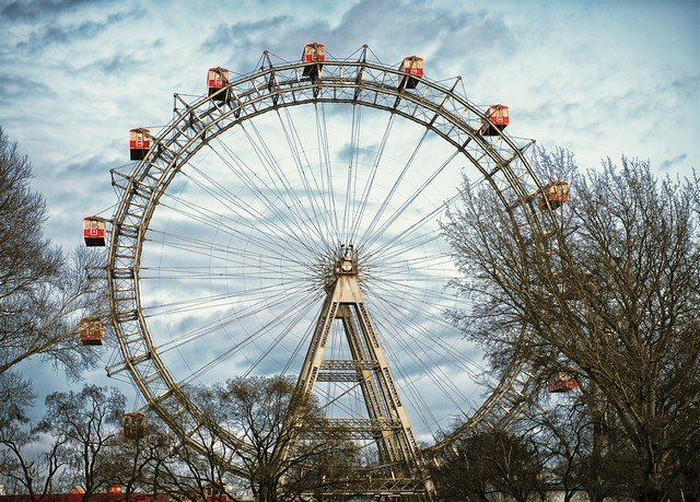 tree ferris wheel ride amusement park outdoor object tourist attraction park recreation outdoor recreation light amusement ride