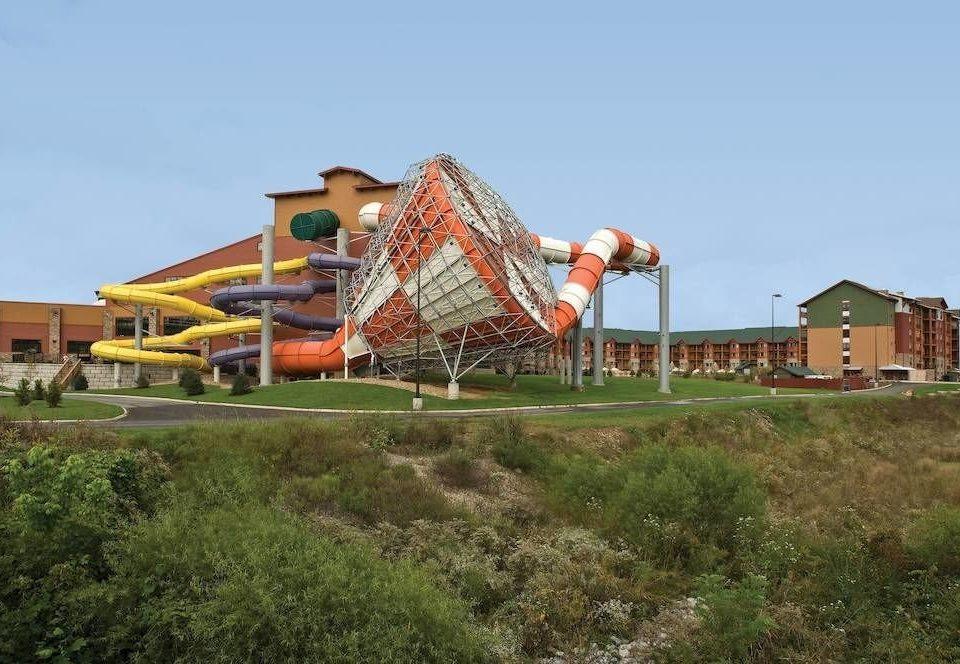 grass sky amusement park roof park outdoor object farm machine ride